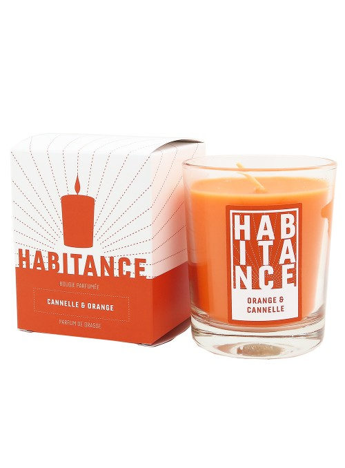 Bougie parfumée TERRE D'EPICES (Cannelle de Chine, Orange)
